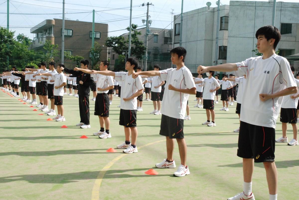 体育祭の全体練習が始まりました。